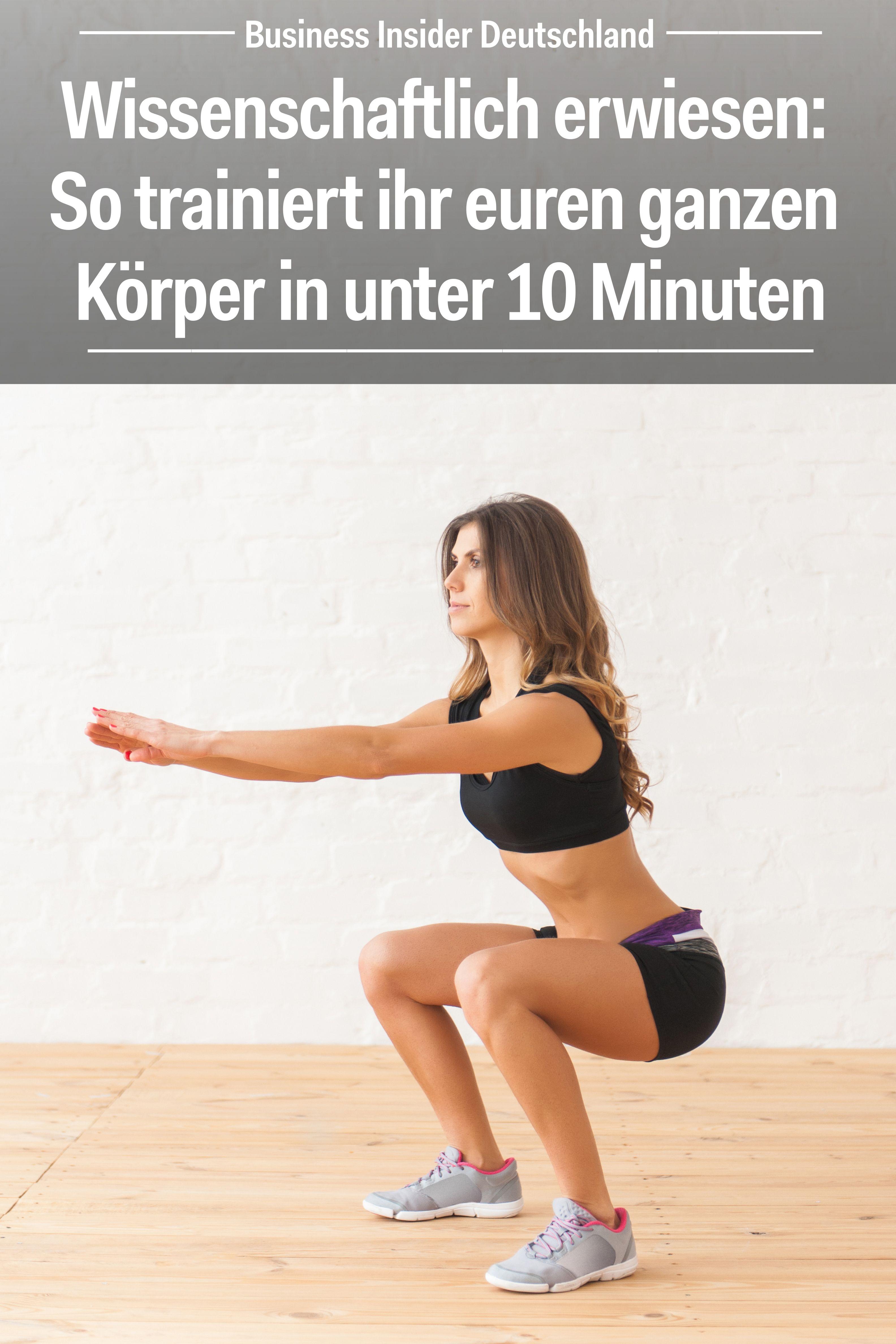Wissenschaftlich erwiesen: So trainiert ihr euren ganzen Körper in unter 10 Minuten #workoutfood