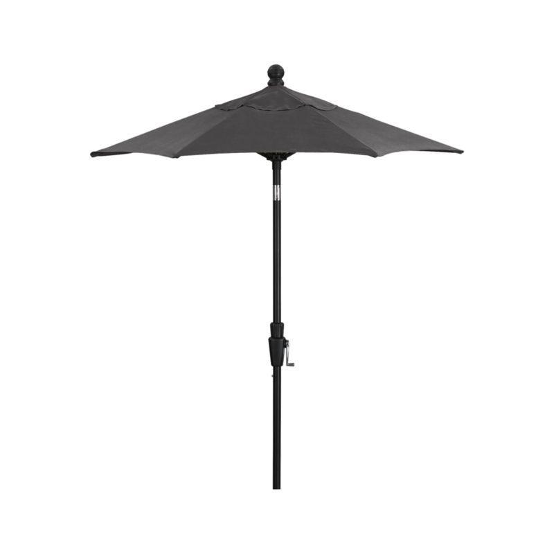 6\' Round Sunbrella ® Charcoal High Dining Patio Umbrella with Tilt ...