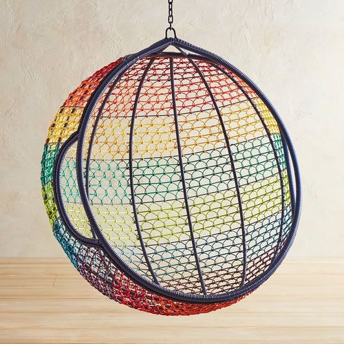 swingasan hanging chair joie ollie owl high rainbow ombre front porch pinterest pier 1 imports