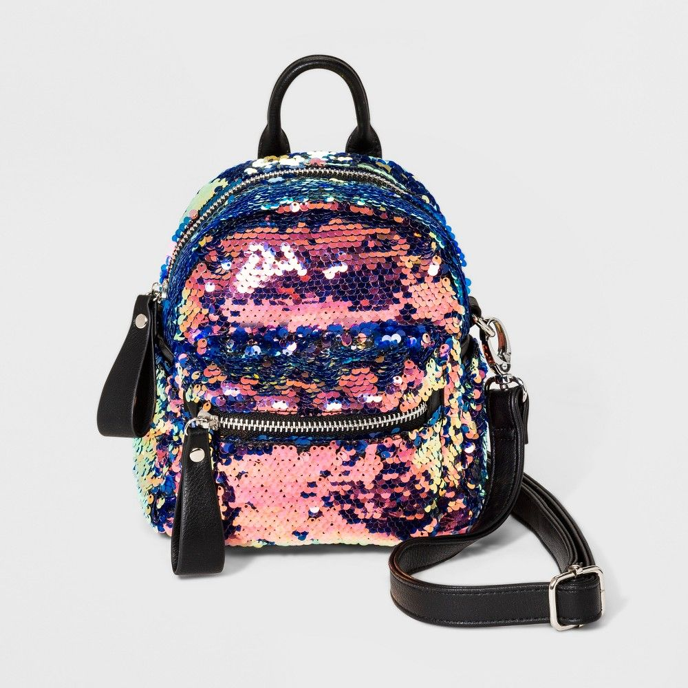 3f82af2e5cf5b6 Women's Sequins Convertible Backpack - Wild Fable, Multi-Colored ...
