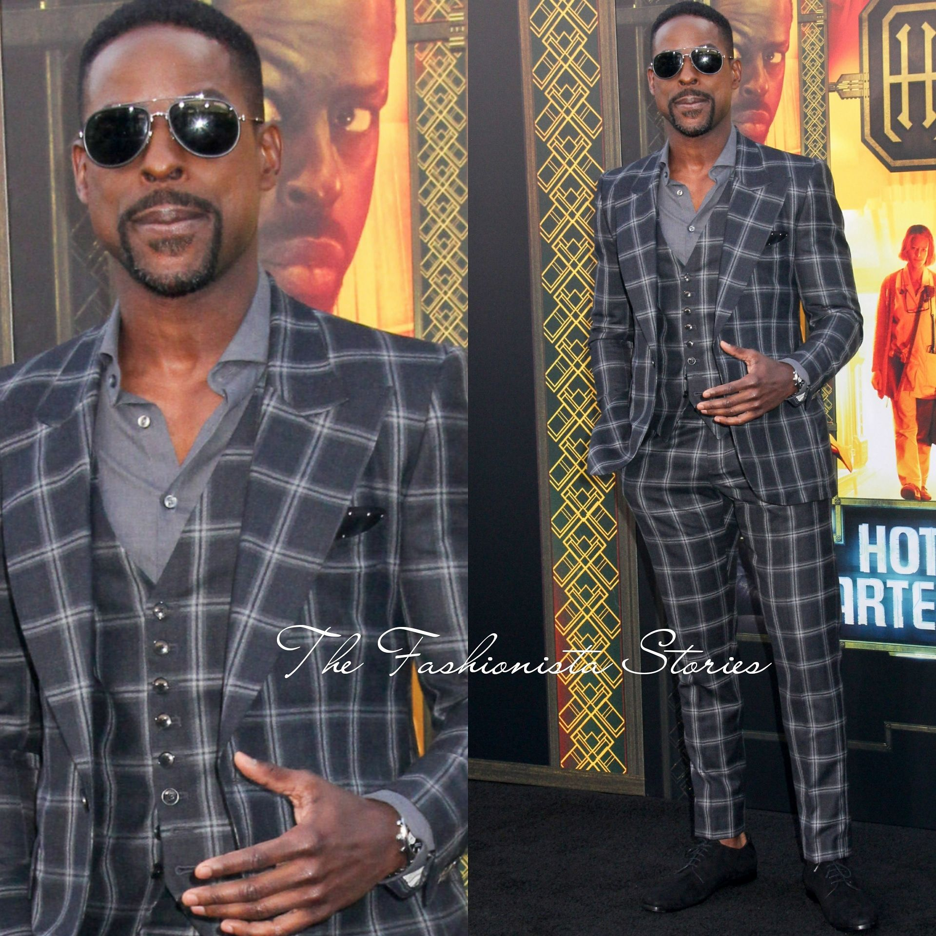 Sterling K. Brown Musika Frere at the 'Hotel Artemis' LA ...