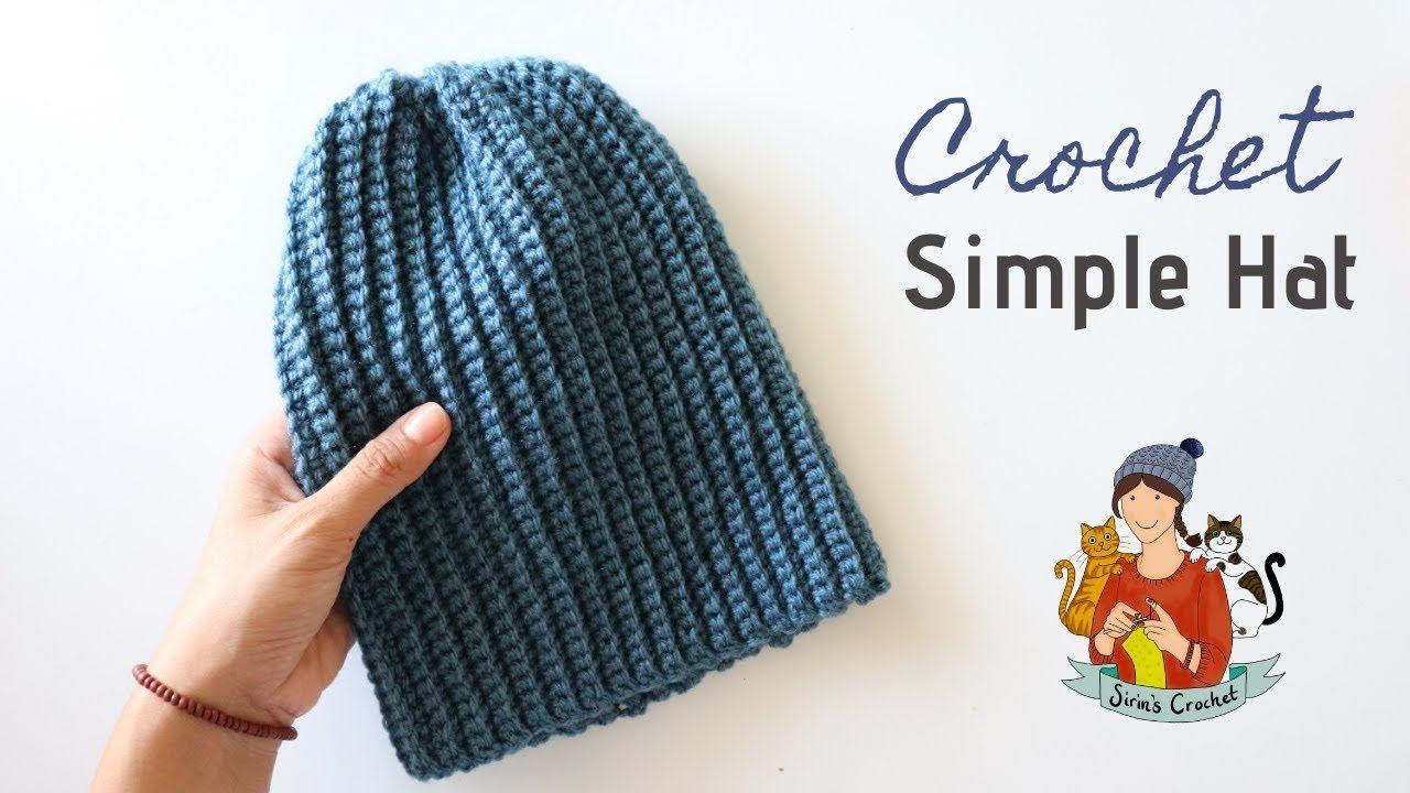 Crochet Simple Beginner Friendly Hat Beanie Tutorial Youtube Crochet Tutorial Pattern Crochet Crochet Tutorial