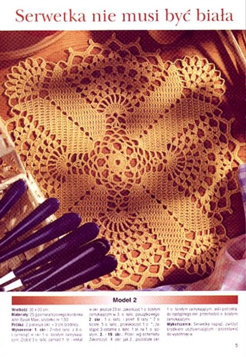 Colored doily with diagram
