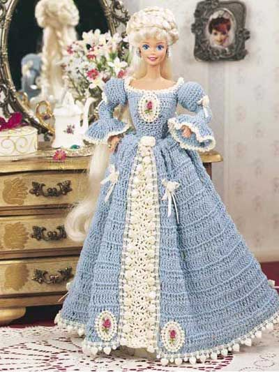 Crochet Victorian Barbie Dress Free Pattern Barbie Crochetdoll