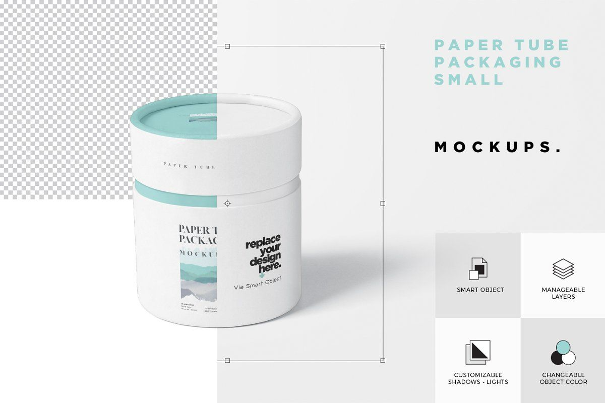 Download Paper Tube Packaging Mock Up Small Design Template Branding Design Small Designs