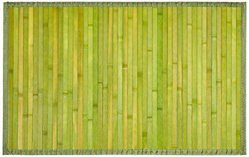 Carpemodo Badvorleger Badteppich Bambusteppich Farbe Grun Grosse