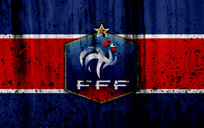 Download wallpapers France national football team, 4k