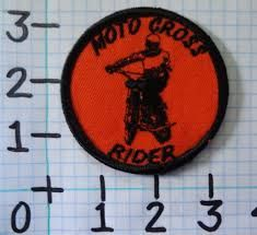 embroidered motocross rider patch - Max's Jacket