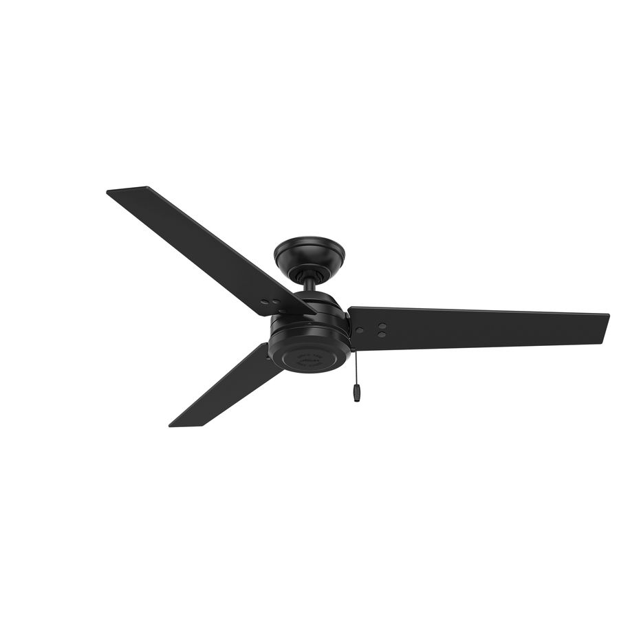 Hunter Cassius 52 In Black Downrod Or Close Mount Indoor Outdoor Commercial Residential Ceiling Fan 3 Blade Energy Star