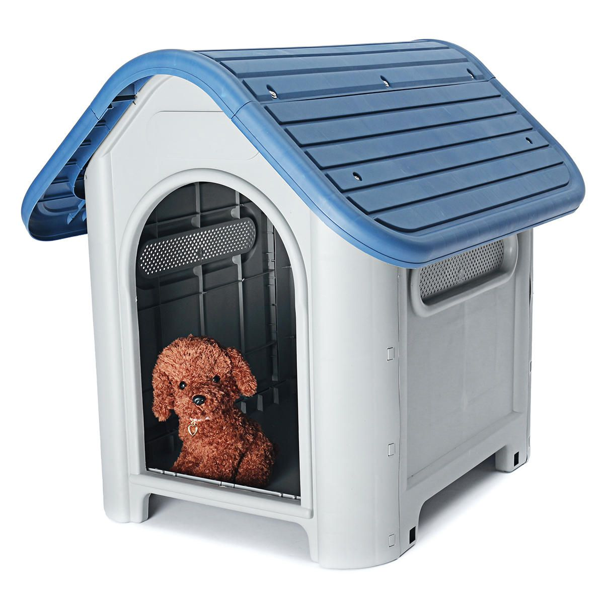 Plastic Dog Kennel Pet Cat House Weatherproof Indoor Outdoor