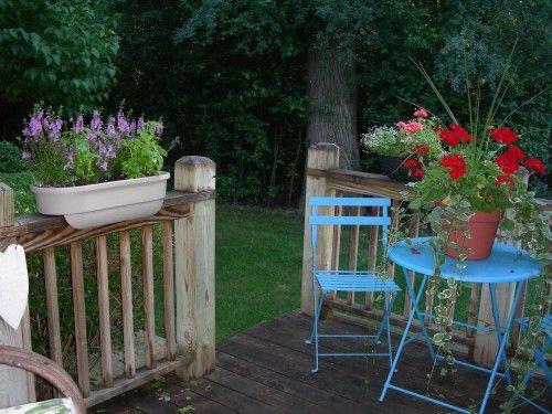 mesa bistrô azul