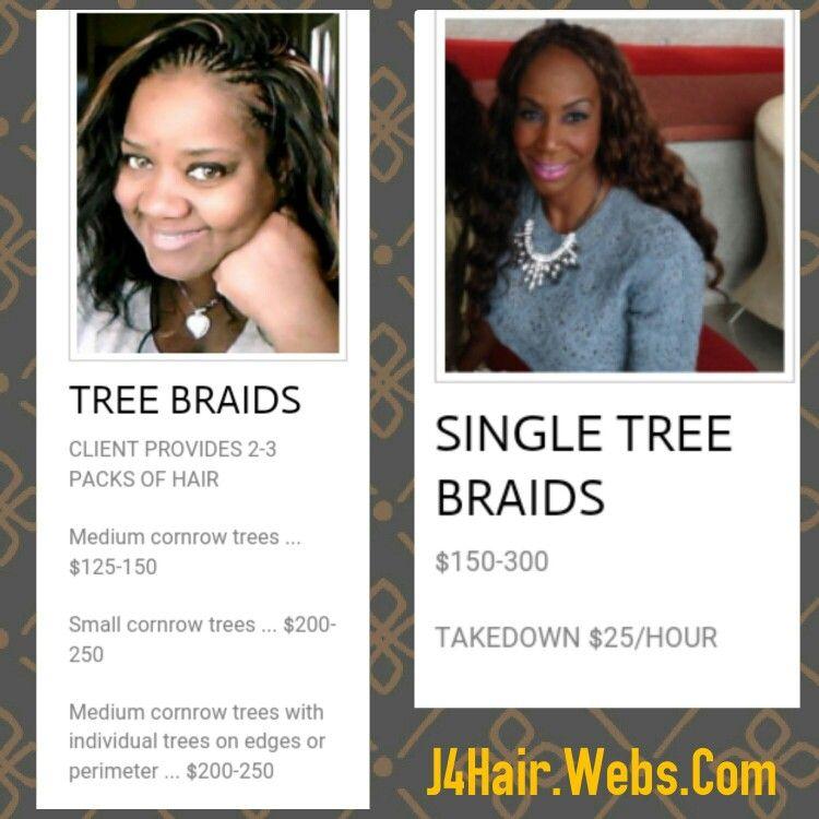 Braids Price List