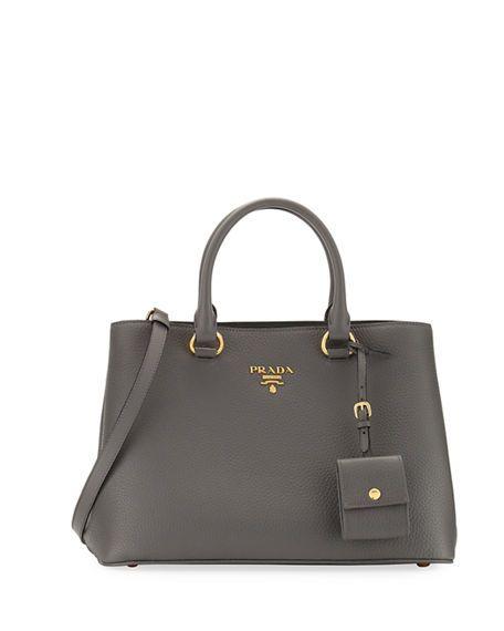 54265238a315 PRADA Pebbled Shoulder Tote Bag, Light Beige. #prada #bags #shoulder bags  #hand bags #leather #tote #lining #