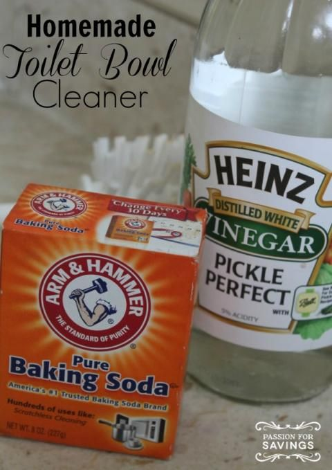 Homemade Toilet Bowl Cleaner: Spray with rubbing alcohol