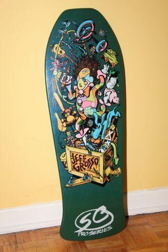 1987 Nos Santa Cruz Jeff Grosso Toybox Skateboard Deck Vintage Rare