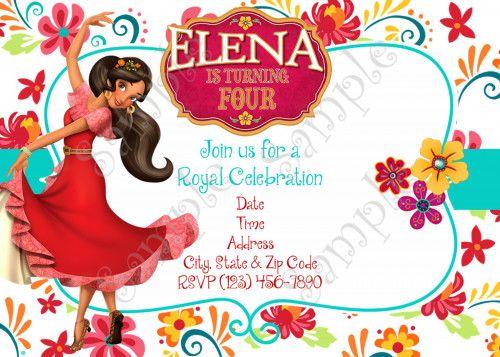 Elena Of Avalor Birthday Party Invitation