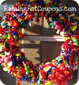 This balloon wreath is perfect for a Birthday party decoration or even gift!