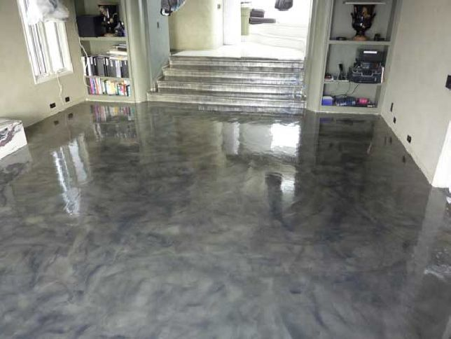 DIY Painted Concrete Floor. Would Be Cool To Make It Look Like Lava!