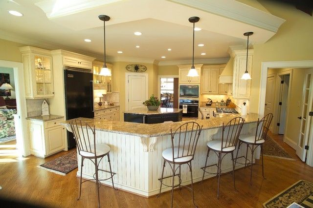 U Shaped Kitchen Plans Island