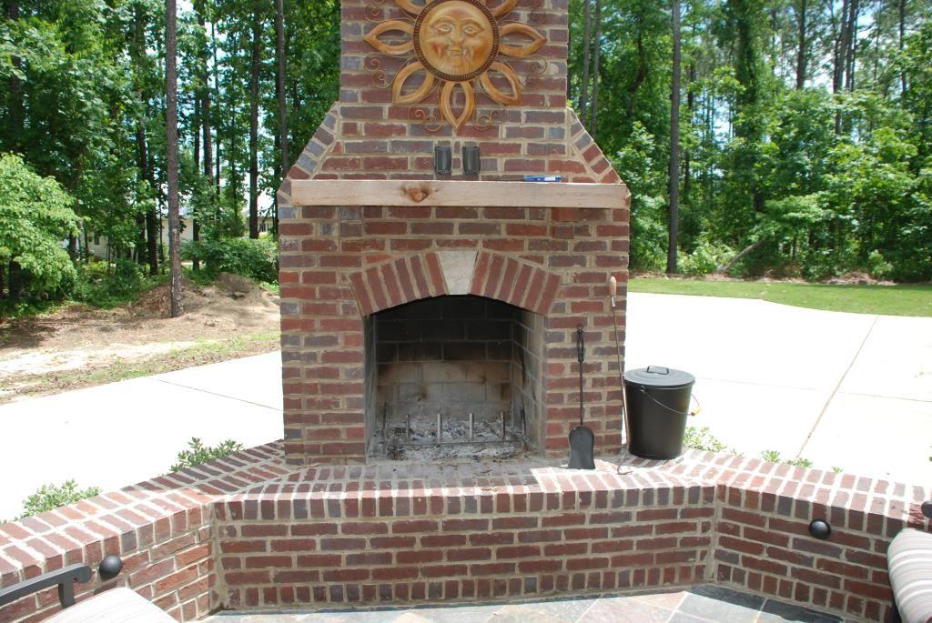 Outdoor Brock Fireplaces For Patios Landscaping In Birmingham