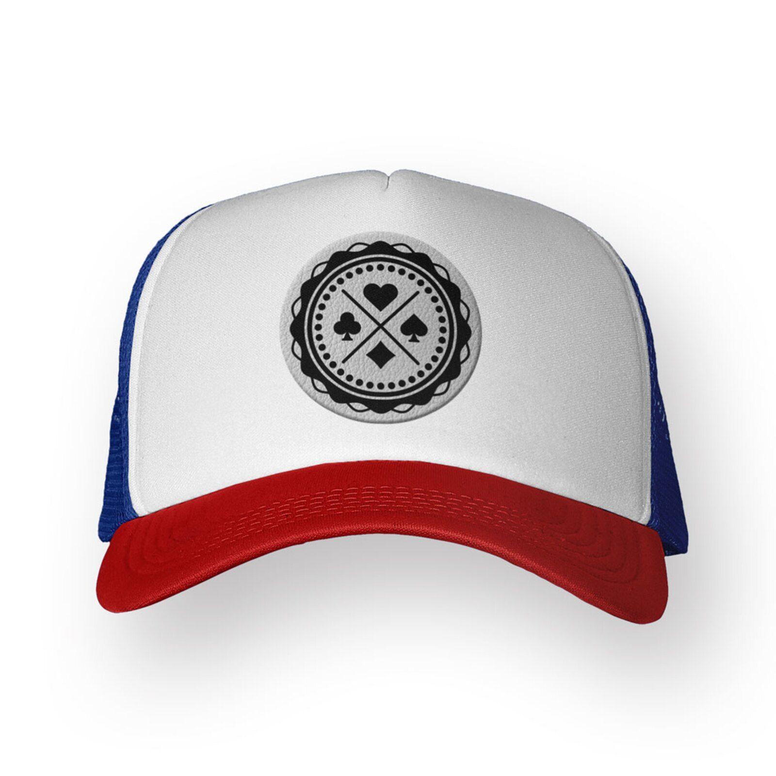 Bone Shop225 Trucker Poker Branco Texas Em 2020 Com Imagens