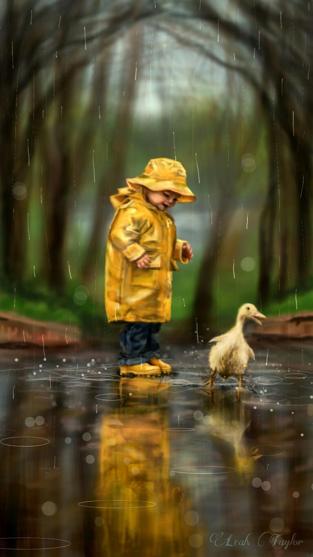 Dcrainyday walk like a duck by leah taylor see the video http youtu be cxqbe vw62q drawing art rain cute people petsandanimals spring love