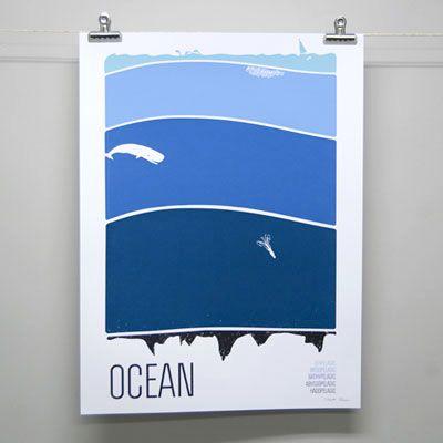 ocean print by brainstorm