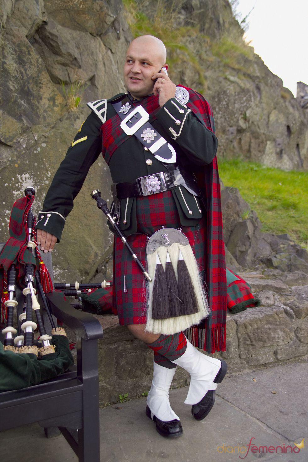 Traje típico de un soldado escocés  84c46aa7261
