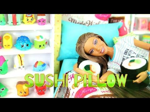 How to Make a Doll Sushi Pillow - Easy Doll Crafts - YouTube