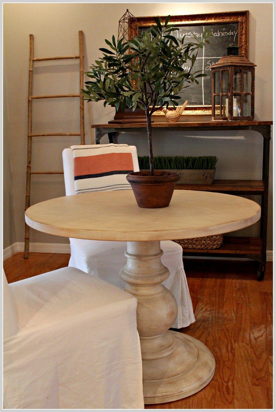 pottery barn dawson pedestal table white - Google Search  Pottery