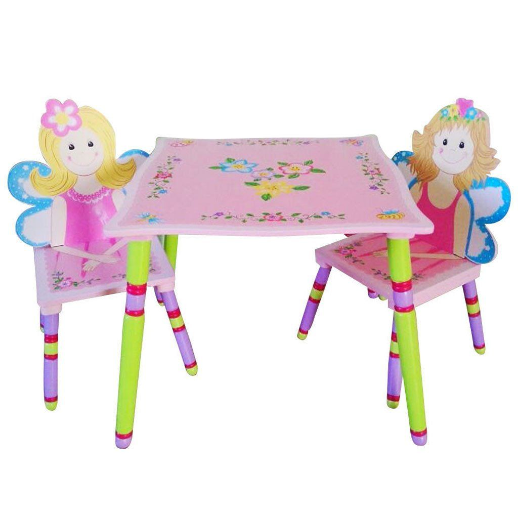 Awesome Table U0026 2 Chair Set By Liberty House Toys In Beautiful Pastel Pink Colours  With Friendly Fairy Chairs And Floral Table Decoration.