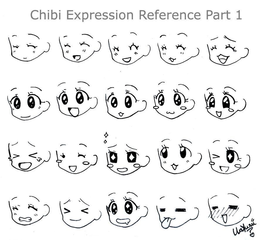 Cute Chibi Expression In 2020 Chibi Girl Drawings Happy Face Drawing Chibi