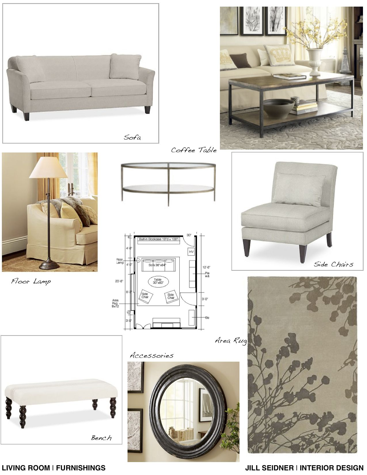 Furnishings Concept Board For Living Room Project With Images