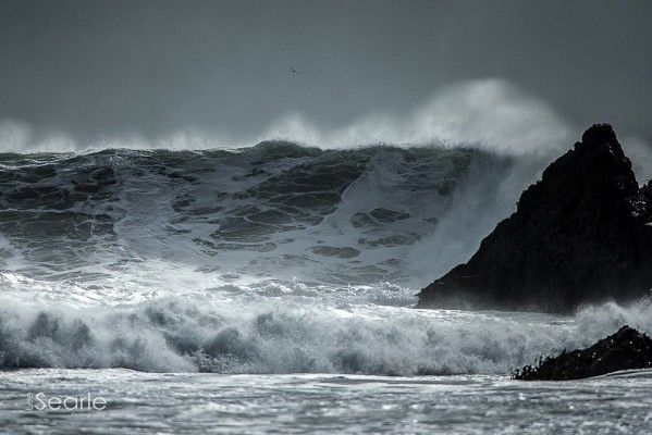 Biggest waves in the world in Cornwall.