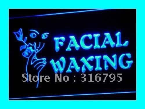 i046 OPEN Facial Waxing Shop Displays LED Neon Light Sign On/Off Switch 7 Colors