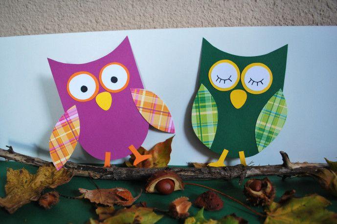 Eulen Basteln Aus Papier Kinderspiele Weltde Und Andere