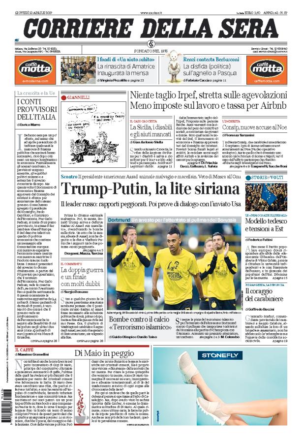 Corriere della Sera // 13/04/2017 //