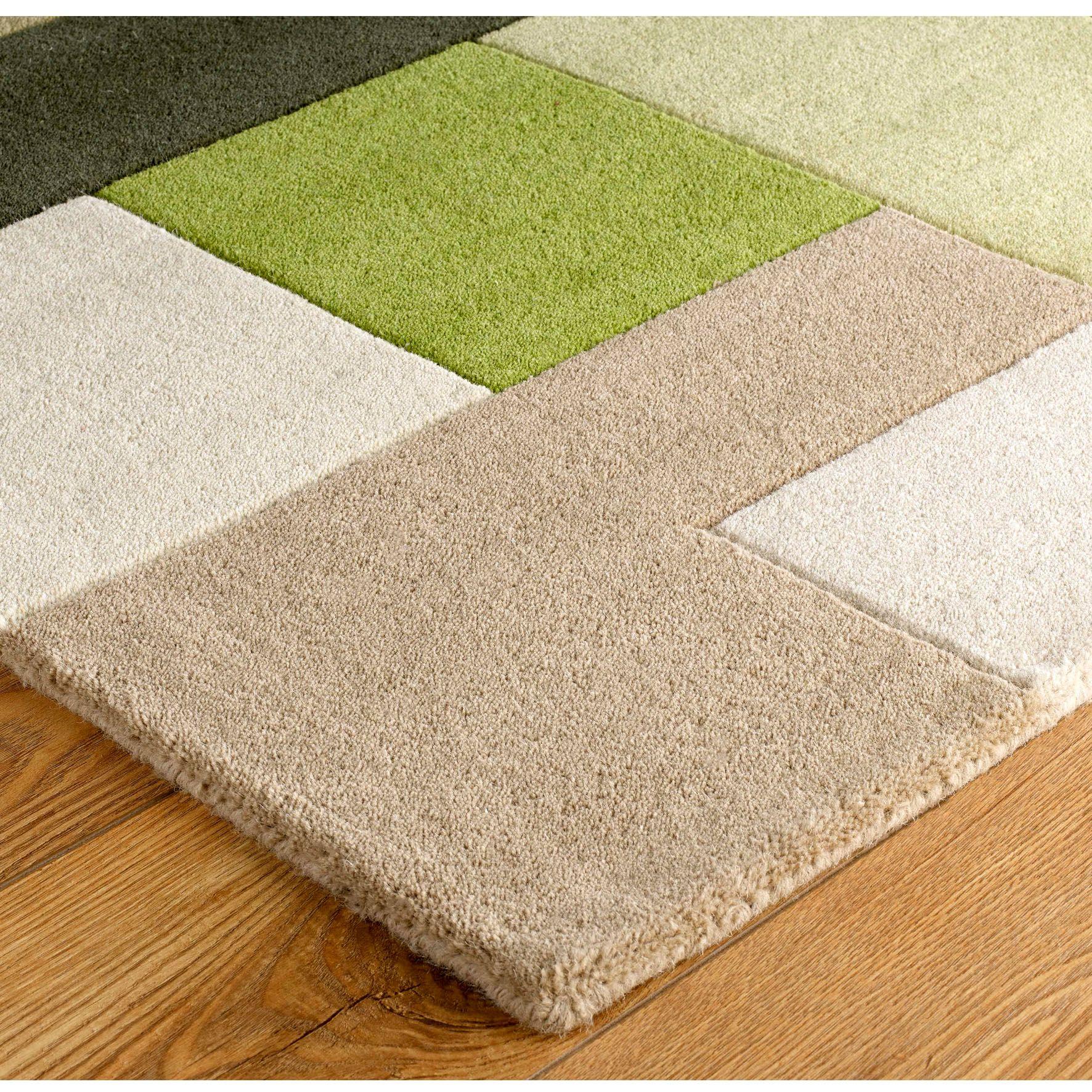 Lexus Green Rug Wool Rugs Texture Modern