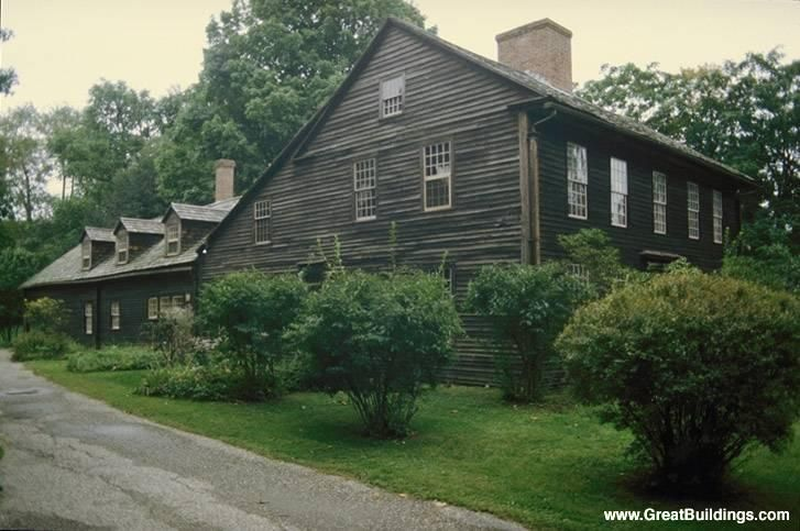 18th century saltbox house late 1700 s new england usa for Colonial log homes