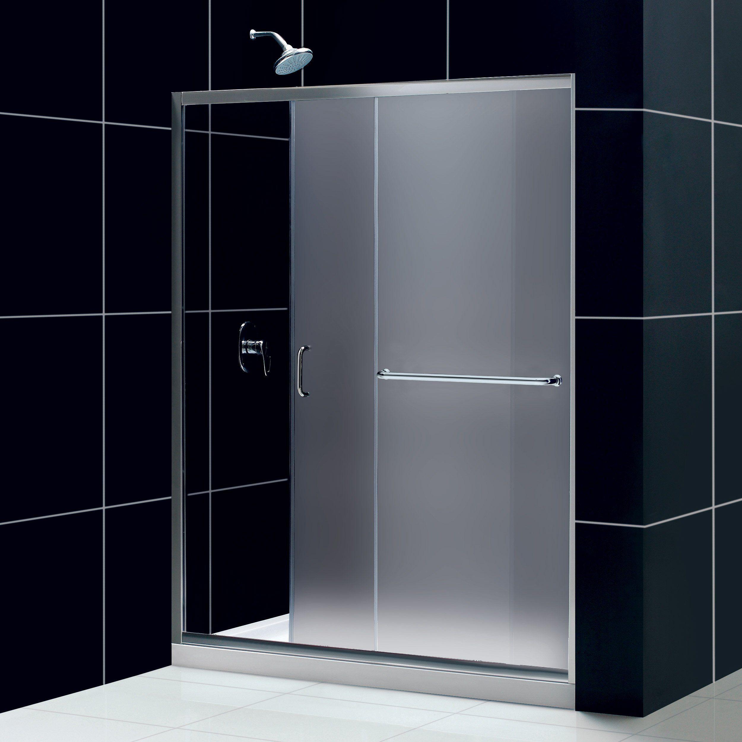 DreamLine Infinity-Z 56 to Sliding Shower Door, Frosted Glass, Chrome  Finish - Mega Supply Store