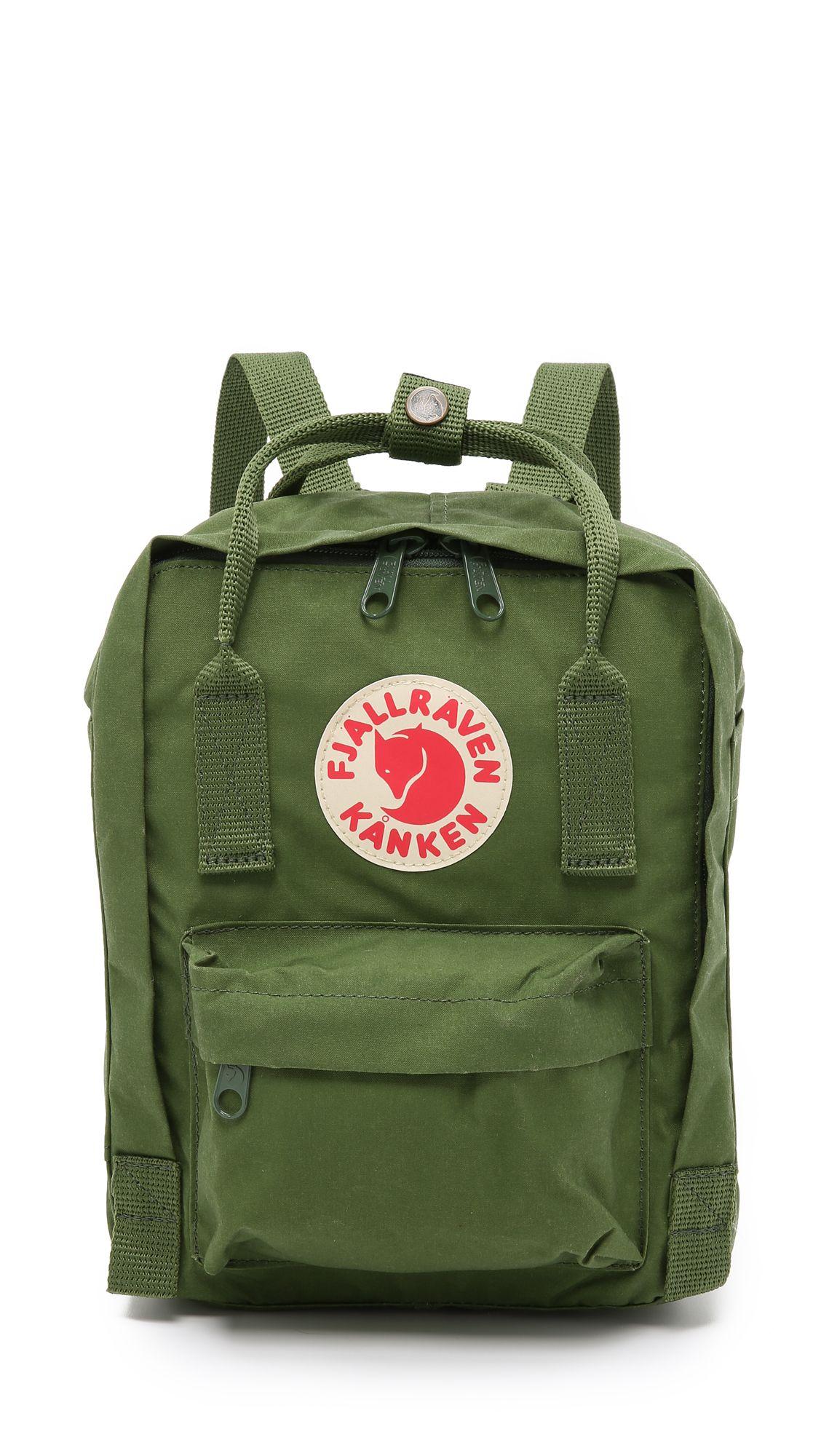 fjallraven kanken mini backpack leaf green shopbop com. Black Bedroom Furniture Sets. Home Design Ideas