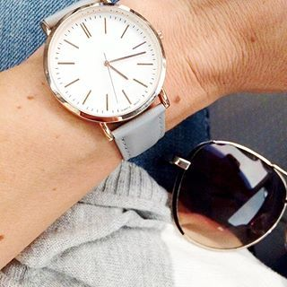 Grey + rose gold...watch from Francesca's