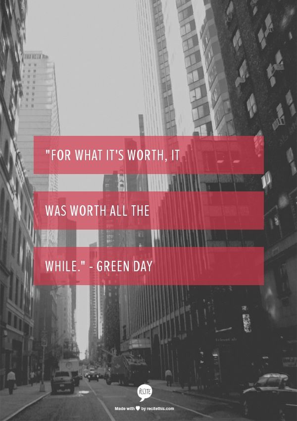 Time for your life green day lyrics