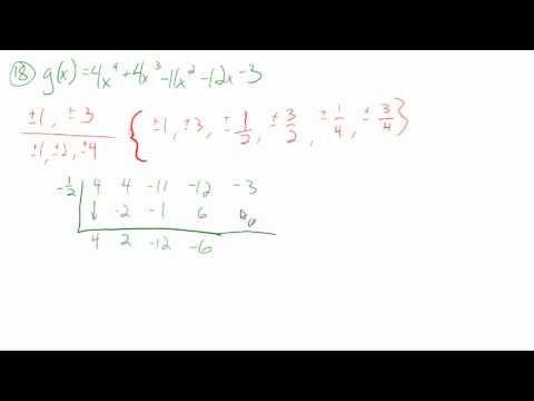 57 Apply The Fundamental Theorem Of Algebra Sample Problems