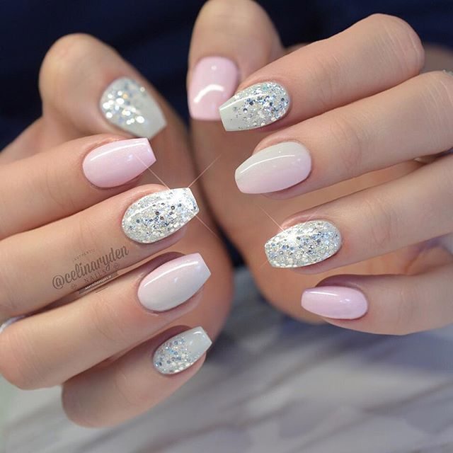 Light Elegance Hard Gels Used Relay Grey A Perfect 10 And Big Diamond Light Elegance Amba Short Coffin Nails Designs Solid Color Nails Short Acrylic Nails