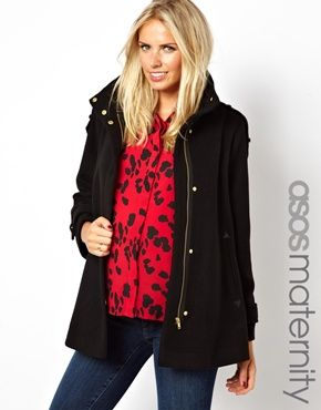 Image 1 of ASOS Maternity Exclusive Swing Coat