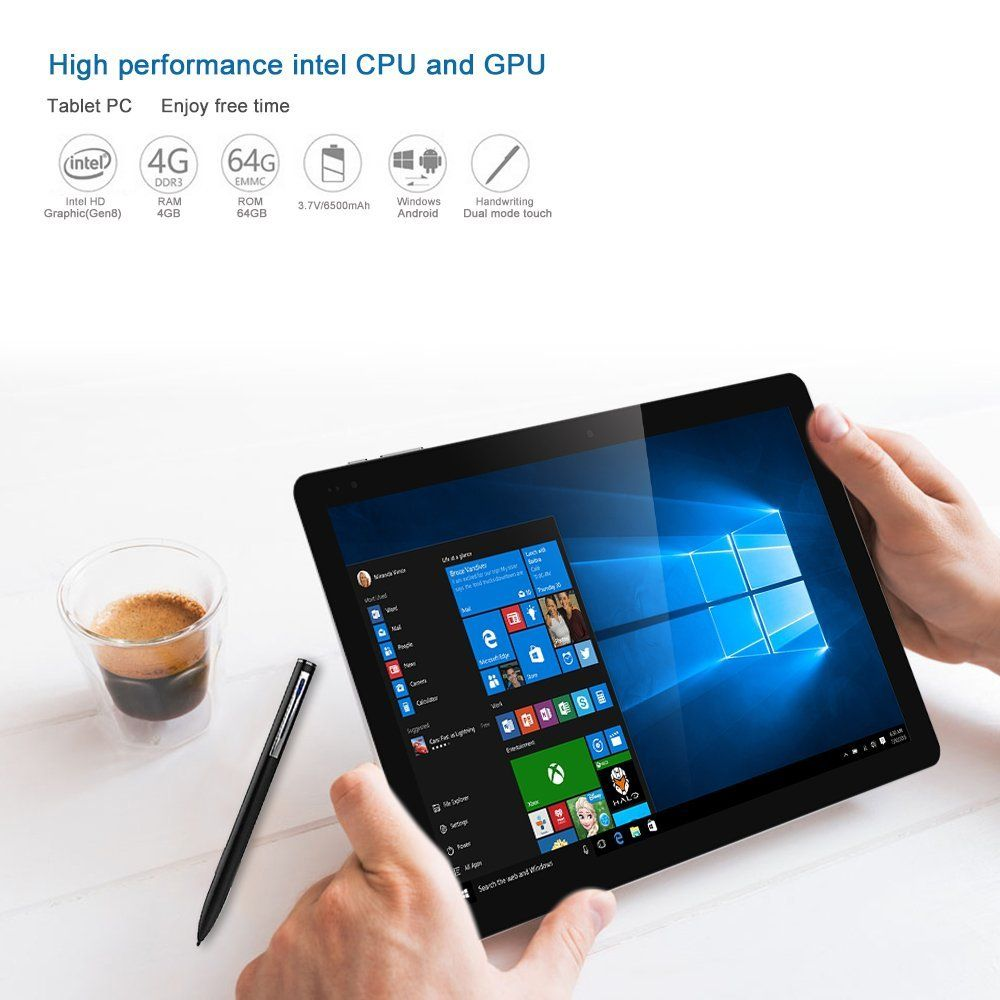 Amazon com chuwi hi10 pro 2 in 1 ultrabook tablet pc 10 1 inch windows