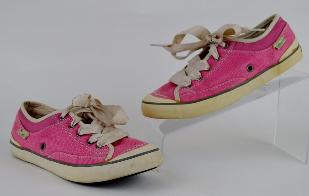 Simple Eco Sneaks Hemp Women's Size 6.5 M Pink Sneakers Ribbon Laces #Simple #FashionSneakers