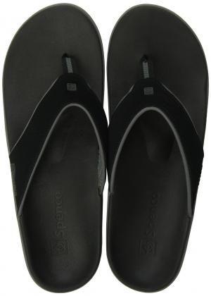 cf1152d4d97b0 Spenco Men s PolySorb Yumi Leather Orthotic Thong Sandals