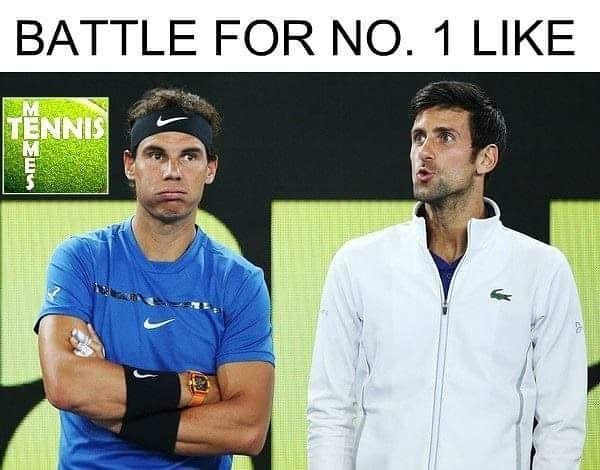 Rafa Nadal 7 660 Points Novak Djokovic 7 445 Points October 14th 2018 Rafa Nadal Novak Djokovic Tennis